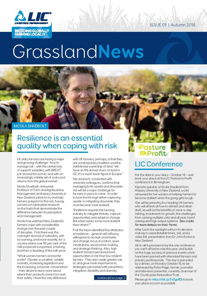 Cover image of Grassland News, Issue 01 | Autumn 2018